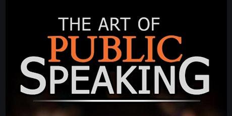The Art of Public Speaking Free Virtual Masterclass tickets