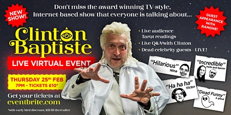 Clinton Baptiste Live  25th Feb 2021 ingressos