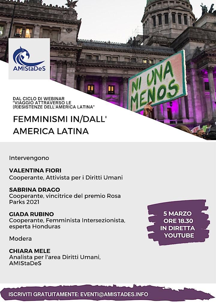 """Immagine Webinar gratuito """"Femminismi in/dall'America Latina"""""""