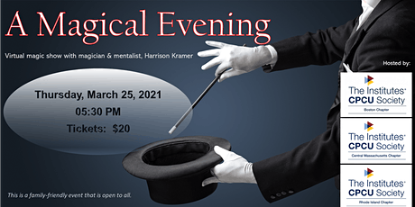 A Magical Evening with Magician & Mentalist, Harrison Kramer tickets