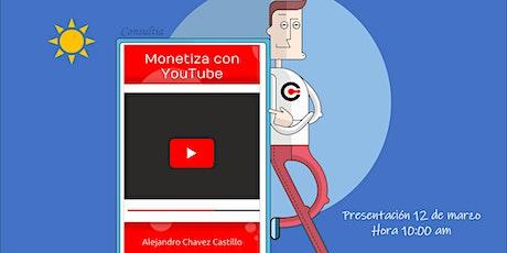 """Presentación del libro """"Monetiza con YouTube"""" entradas"""