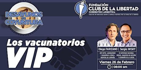 CLUB DE LIBERTAD - DESAYUNO DE COYUNTURA - LOS VACUNATORIOS VIP entradas
