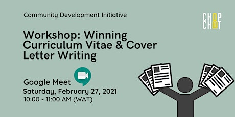 Workshop: Winning CV & Cover Letter Writing tickets