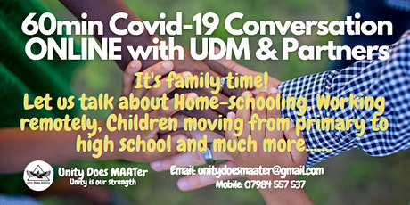 60min CV-19 Conversations Online - Home-schooling tickets