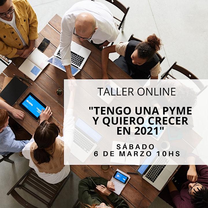 Imagen de TALLER ONLINE «Tengo una Pyme y quiero crecer en 2021»