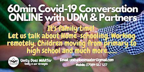 60min CV19 Conversations Online Children moving from Primary 2 High School tickets