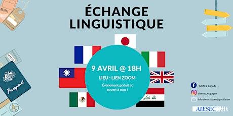 Soirée d'échange linguistique avec AIESEC ESG UQAM billets