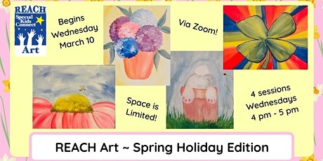 REACH Art Online~ Spring Holiday Edition: Wed. March 10, 17, 24, 31 tickets