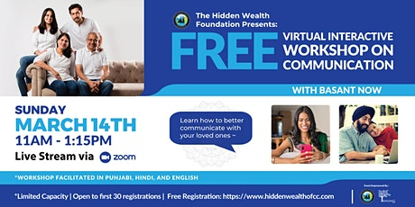 "Free Interactive Virtual Workshop on ""Communication"" tickets"