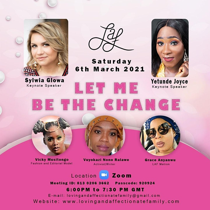 Let Me Be The Change - Women's Day and Mother's Day Celebration image