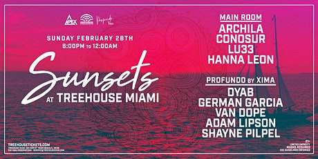 Sunday Sunsets @ Treehouse Miami tickets