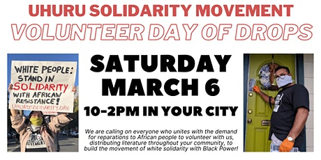 Oakland Volunteer Day of Drops for Reparations tickets
