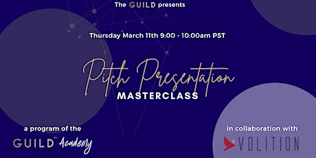 Pitch Presentation Masterclass Tickets