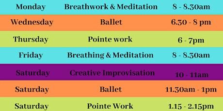 Dance, Movement & Meditation Classes - March 2021 tickets