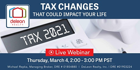 Tax Changes That Could Impact Your Life tickets