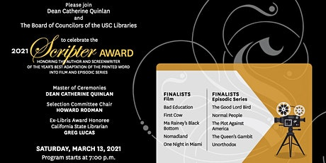 33rd-Annual USC Libraries Scripter Award tickets