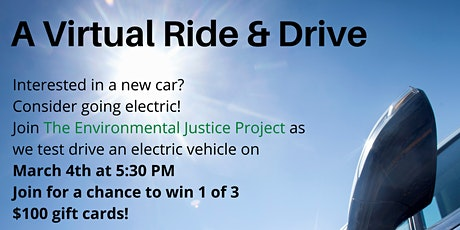 The Environmental Justice Project's Virtual Ride and Drive! tickets
