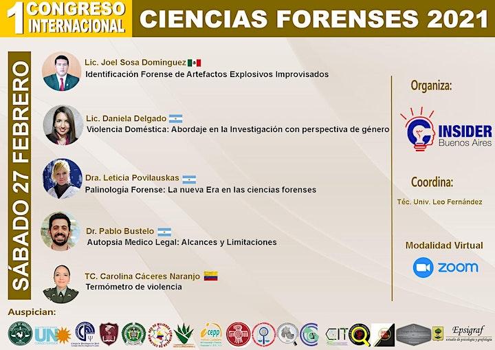 Imagen de I Congreso Internacional  Cs. Forenses 2021