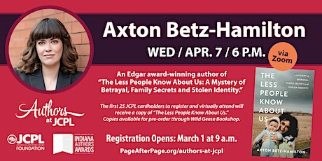 Authors at JCPL Presents: Axton-Betz Hamilton (with book giveaway) tickets