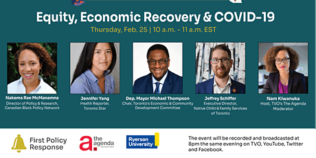 Equity, Economic Recovery & COVID-19 tickets