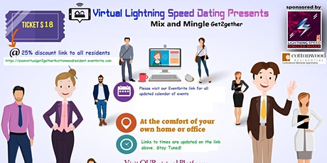ZOOM Thursday Virtual Singles Mixer 4 all CottonWood WestSide Residents tickets
