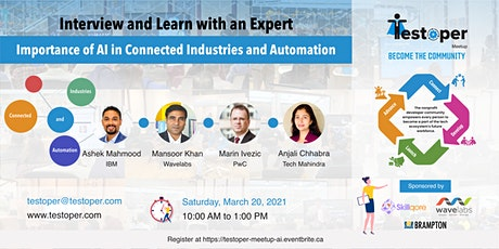 Meetup -Importance of AI in Connected Industries and Automation tickets