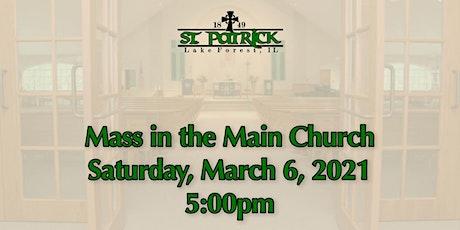 St. Patrick Church Mass, Saturday, March 6 at 5:00pm tickets