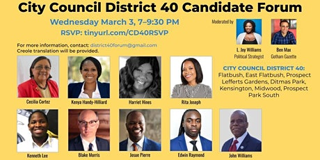 City Council District 40 Candidate Forum tickets