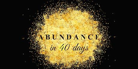 40 dias de Abundancia entradas