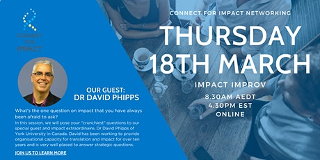 Connect for impact networking: Impact Improv tickets