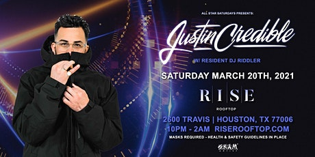 All Star Saturdays w/ Justin Credible @ RISE Rooftop tickets