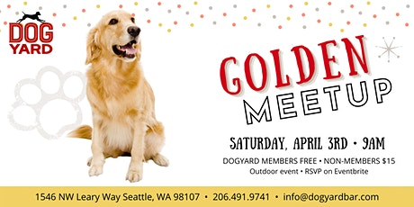 Golden Retriever  Meetup at the Dog Yard tickets