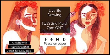 Live life drawing via zoom - Live from India tickets