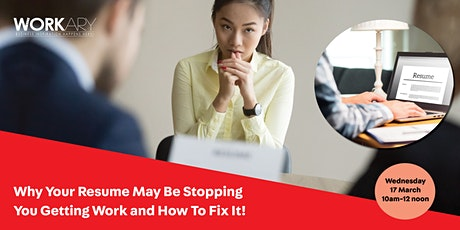 Why your resume may be stopping you getting work and how to fix it tickets