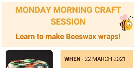 Beeswax Wraps Creative Craft Session @ The Wasleys Institute tickets