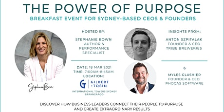THE POWER OF PURPOSE tickets
