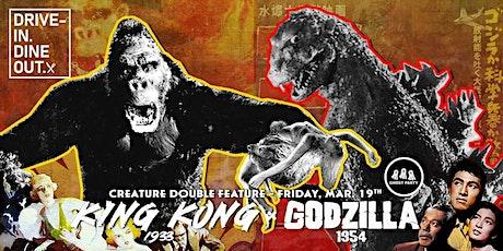 King Kong (1933) + Godzilla (1954) - Drive-In at Mess Hall Market tickets