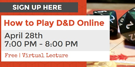 Virtual Lecture How to Play Dungeons & Dragons: How to Play Online tickets