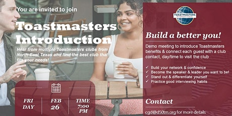 Toastmasters Introduction Open House tickets