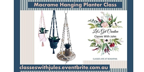 Macrame Hanging Pot/Shelf Class tickets