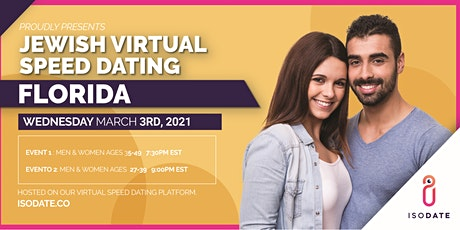 Isodate's Florida Jewish Virtual Speed Dating tickets
