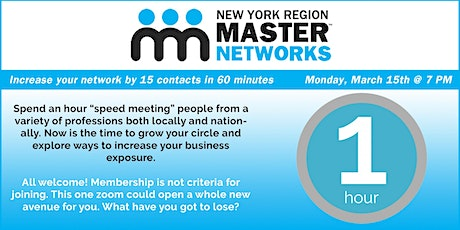 Speed Networking Event: Increase Your Network by 15 Contacts in 60 Minutes Tickets