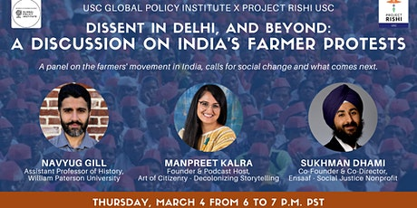 Dissent in Delhi and Beyond: A Discussion on India's Farmer Protests tickets