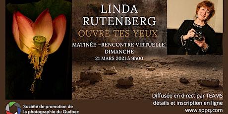 Matinée-rencontre avec Linda Rutenberg - dimanche 21 mars 2021 à 9 h billets