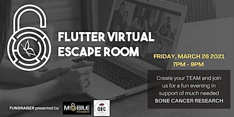 Flutter Virtual Escape Room tickets
