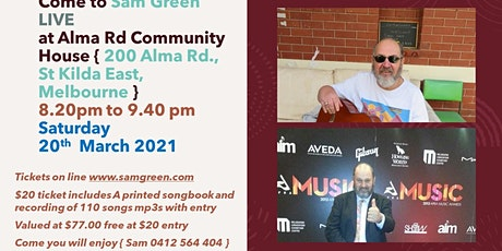 Sam Green live concert at Alma Rd. Community House tickets