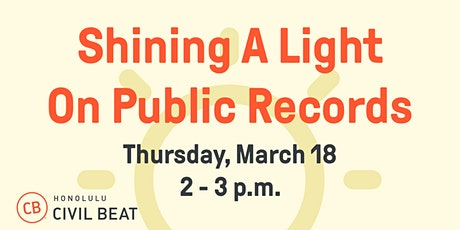 Shining A Light On Public Records tickets