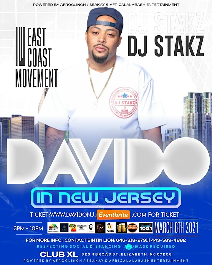 DAVIDO LIVE IN JERSEY image