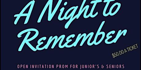 Open Invitation Junior/Senior Prom, Adult Prom, & Graduation tickets