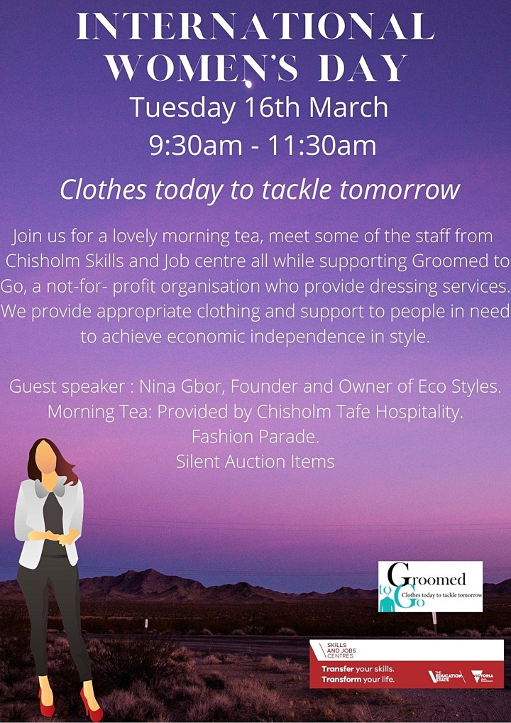 Chisholm Skills and Job Centre & Groomed to Go - International Women's Day image